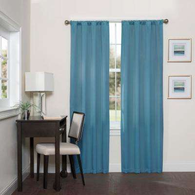 Darrell Blackout Window Curtain Panel in Sky - 37 in. W x 95 in. L