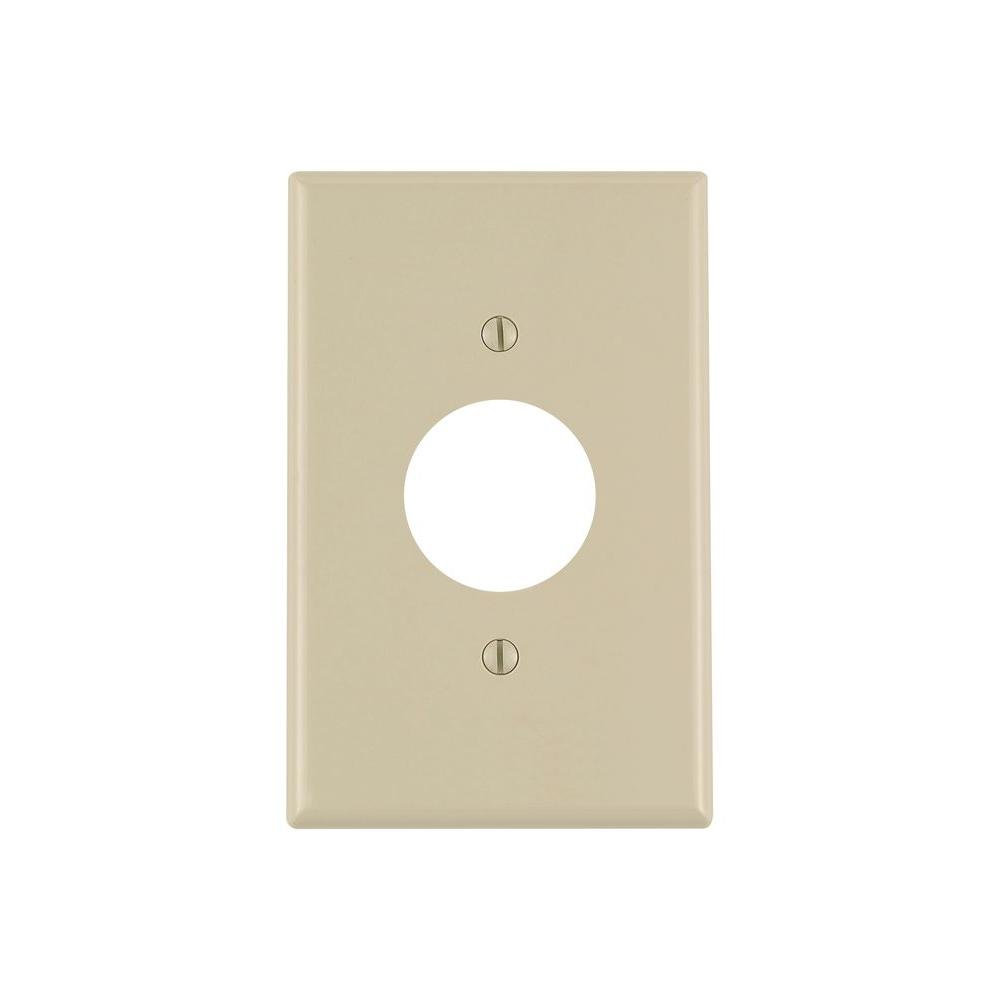 1-Gang Midway Single Hole Wall Plate, Ivory