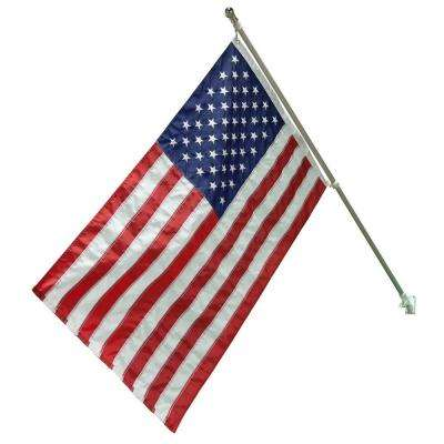 3 ft. x 5 ft. Nylon US Flag with 6 ft. Aluminum Pole and Nylon Bracket