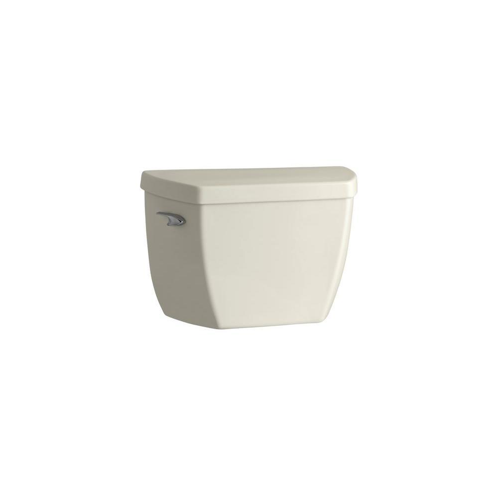 KOHLER Highline 1.6 GPF Single Flush Toilet Tank Only in Biscuit