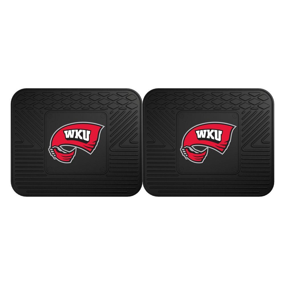 NCAA Western Kentucky University Black Heavy Duty 2-Piece 14 in. x