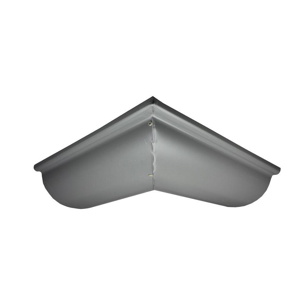 Spectra Metals 6 In Half Round Tuxedo Gray Aluminum
