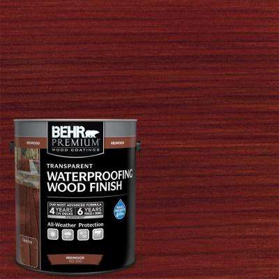 1 gal. Redwood Transparent Waterproofing Wood Finish