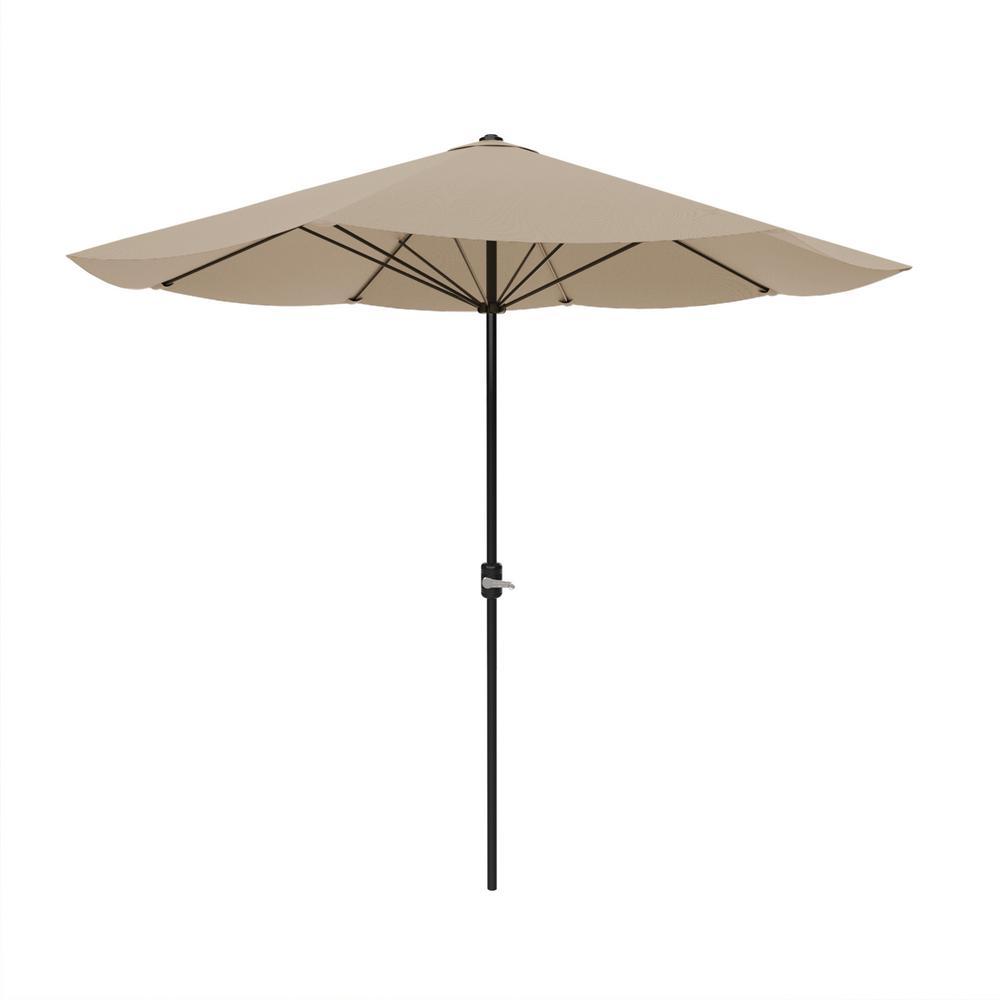 Pure Garden 9 Ft Aluminum Auto Crank Patio Market Umbrella In Sand