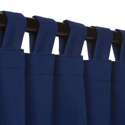 50 in. x 84 in. Outdoor Single Curtain with Tabs in Blue