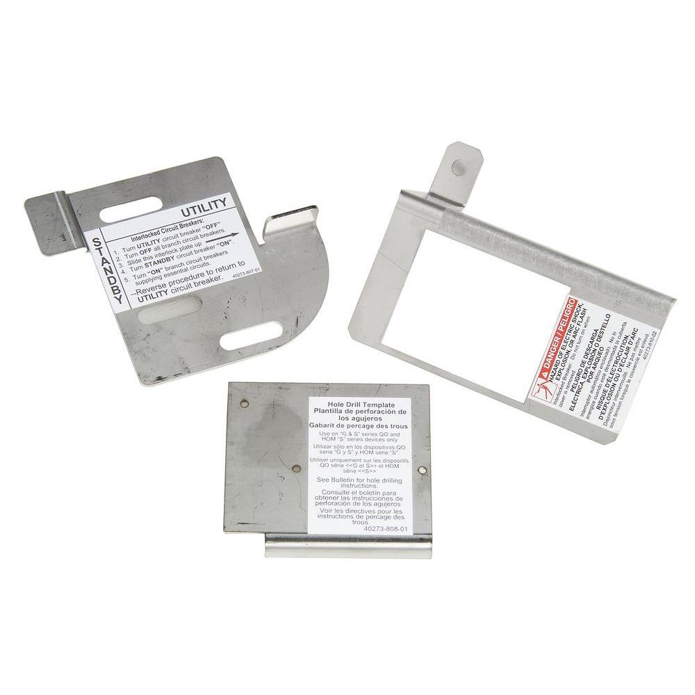 HOM Cover Generator and QOM2 Frame Size Main Breaker Interlock Kit