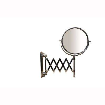 17.5 in. Accordion Round X3 Magnify Makeup Mirror