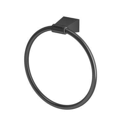 Bleu Towel Ring in Matte Black
