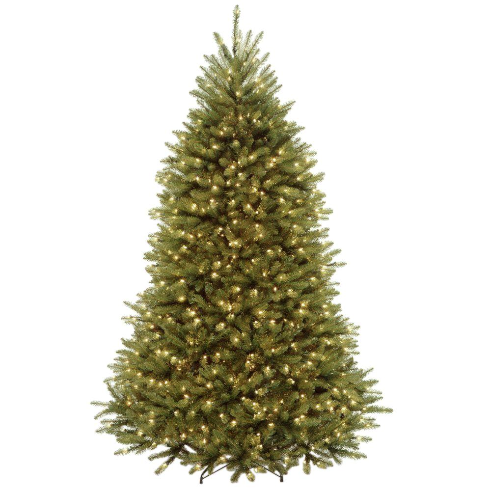 7 Ft Christmas Tree Prelit.National Tree Company 7 Ft Dunhill Fir Artificial Christmas Tree With Clear Lights