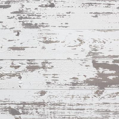 Timeline Wood 11/32 in. x 5.5 in. x 47.5 in. Distressed White Wood Panels (6-Pack)