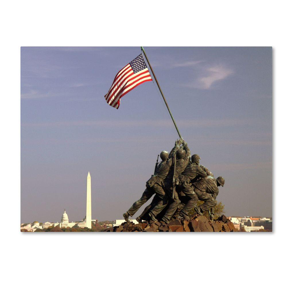 Trademark Fine Art 16 in. x 24 in. Marine Corps Memorial Canvas Art