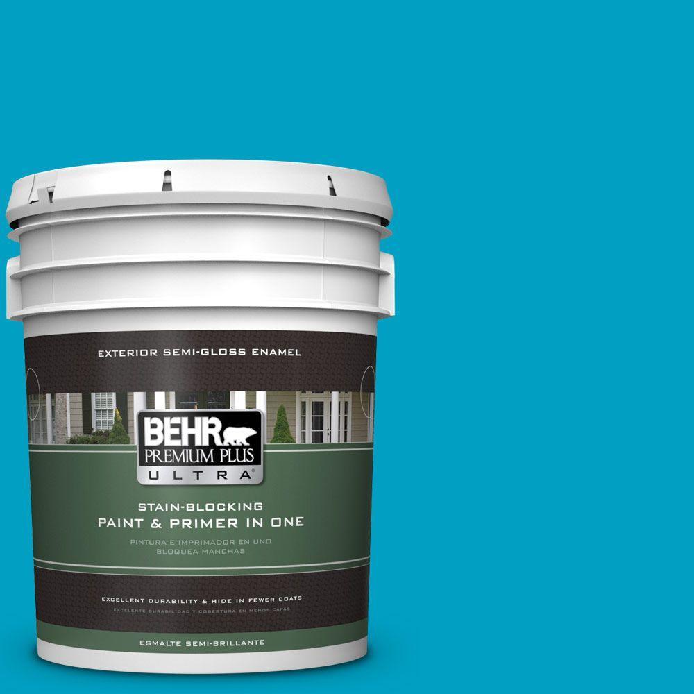5-gal. #530B-6 Tropical Holiday Semi-Gloss Enamel Exterior Paint