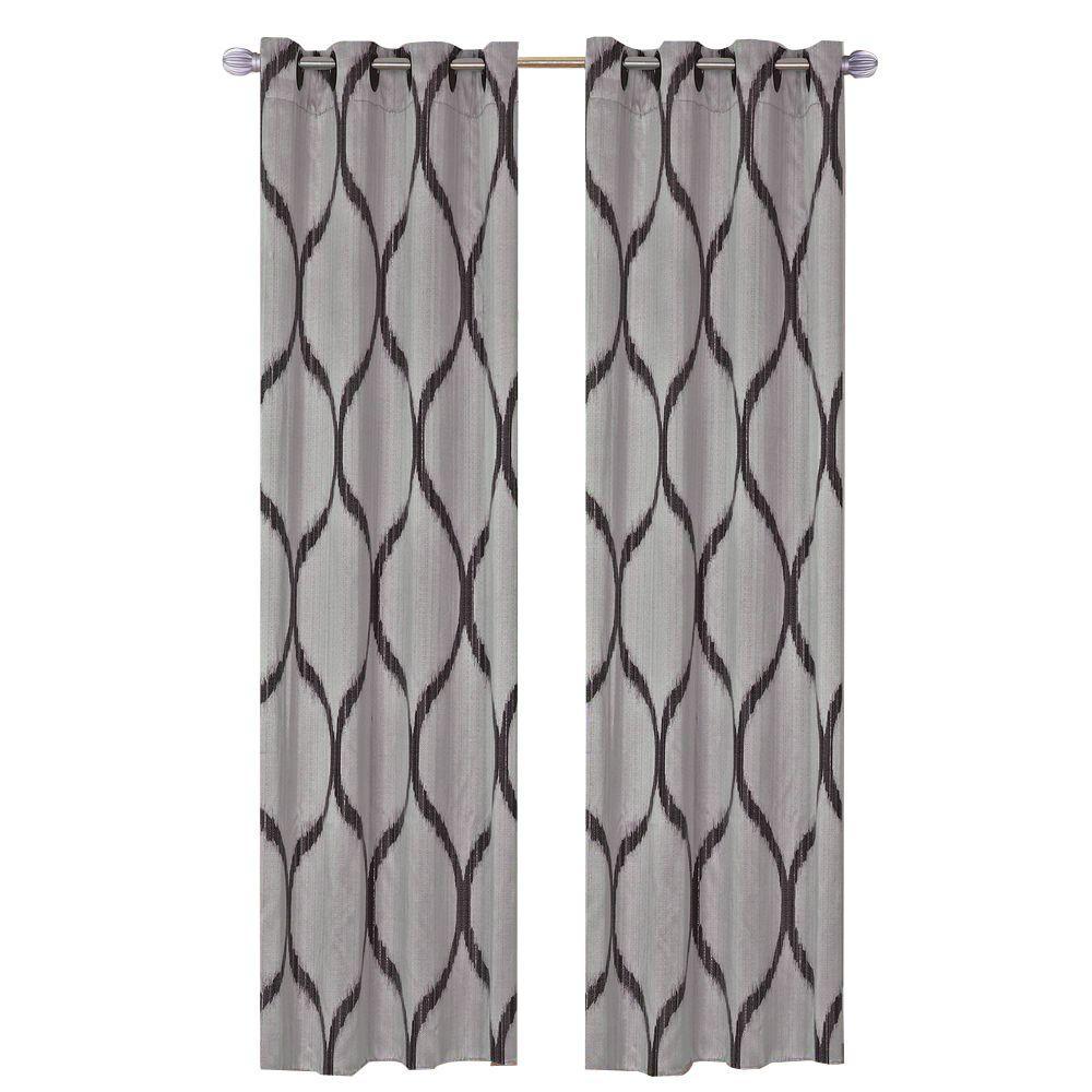 Metallic  Grommet Curtain Panels