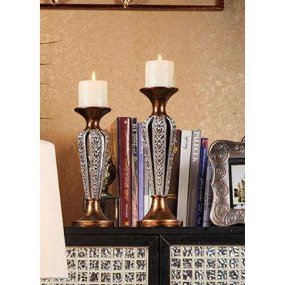 12 in., 14 in. Everly Candle Holder Set