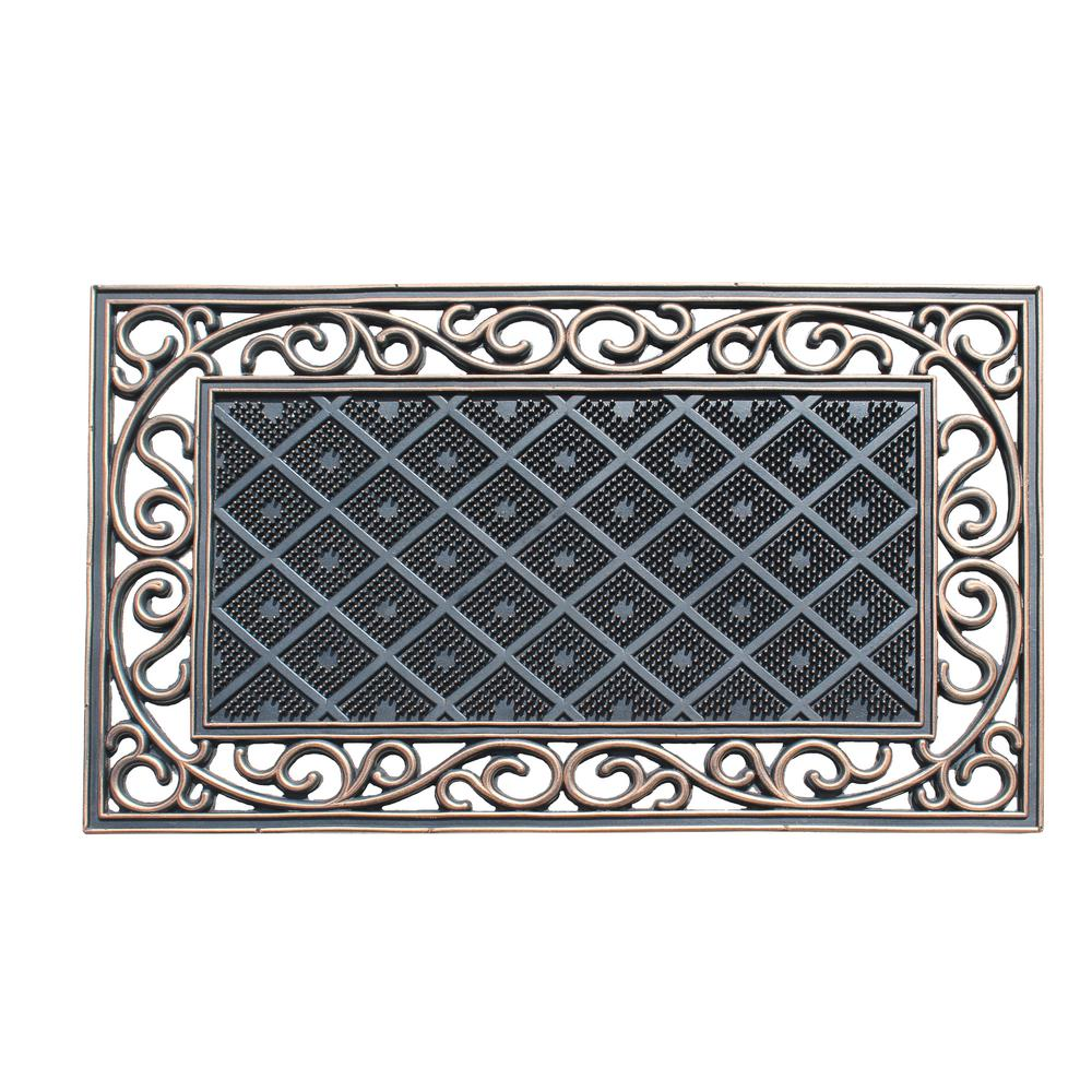 a67ef73598 A1HC Diamond Artistic Grill Border 18 in. x 30 in. 100% Rubber Indoor