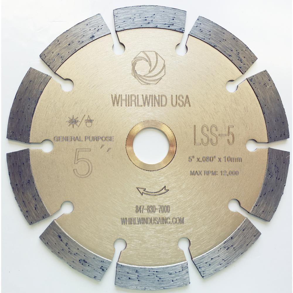 Whirlwind usa 5 in 10 teeth segmented diamond blade for dry or wet 10 teeth segmented diamond blade for dry or wet cutting keyboard keysfo Image collections