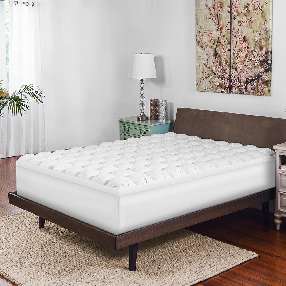 4 in. Full Size Gel-Infused Memory Foam and Synthetic Dow...