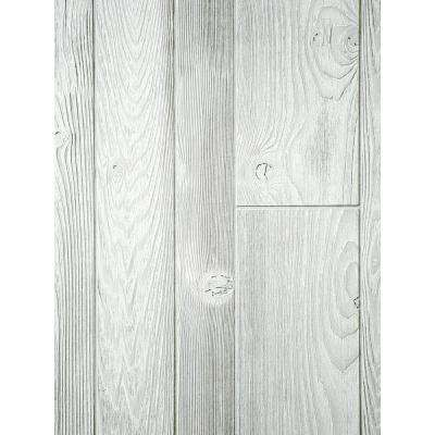 1/4 in. x 48 in. x 96 in. Wood Composite Aspen White Homesteader Wall Panel