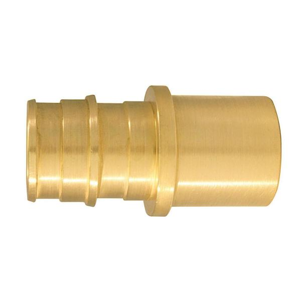 3/4 in. Brass PEX-A Expansion Barb x 3/4 in. Male Sweat Adapter (10-Pack)