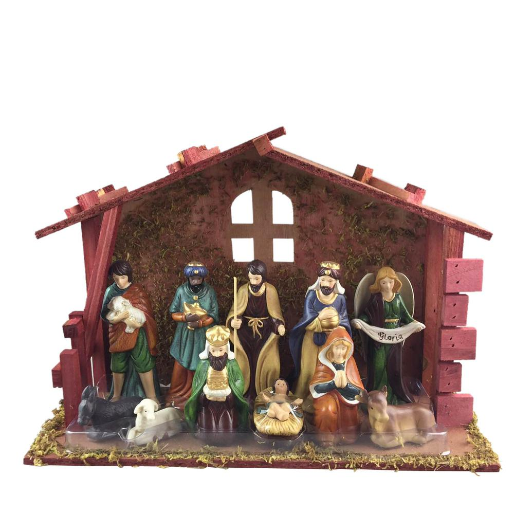 Home Accents Holiday 5.25 In. Nativity Scene Set (12-Piece