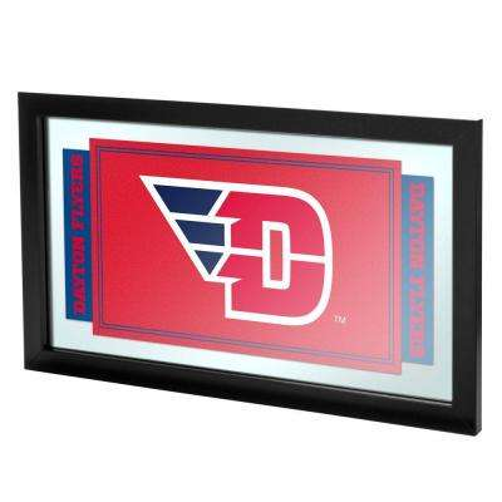 University of Dayton 15 in. x 26 in. Black Wood Framed Mirror