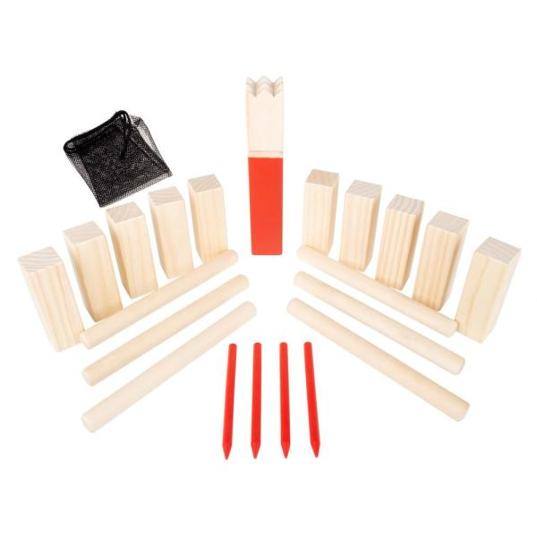 Outdoor Wooden Kubb Viking Chess Game