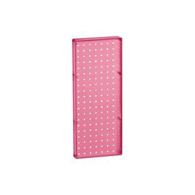 20.625 in. H x 8 in. W Pegboard Pink Styrene One Sided Panel