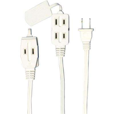 12 ft. 3-Outlet Indoor Extension Cord - White