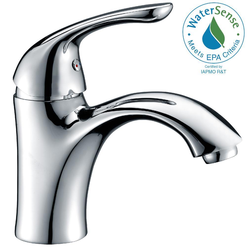 Clavier Series Single Hole Single-Handle Mid-Arc Bathroom Faucet in Polished Chrome