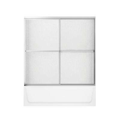 Maui Plus 32 in. x 60 in. x 74.32 in. Bath and Shower Kit with Right Drain in White and Privacy Glass Door in Chrome