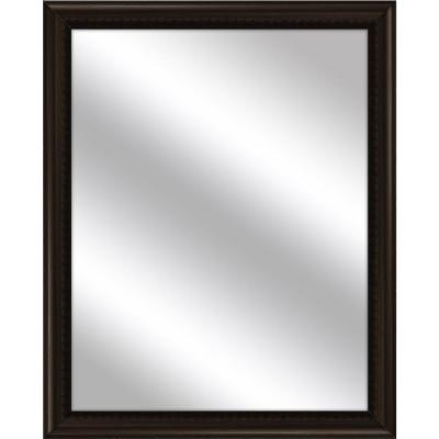Medium Rectangle Brown Art Deco Mirror (30.75 in. H x 24.75 in. W)