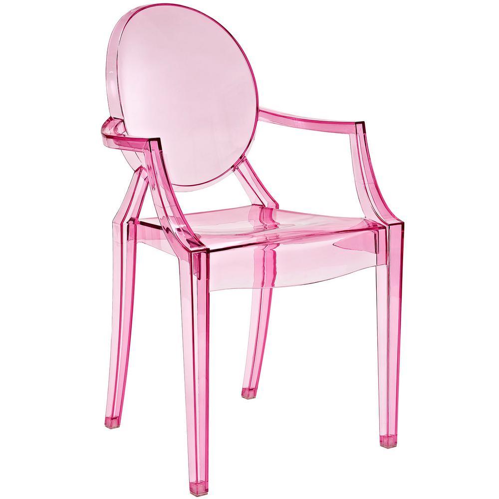 MODWAY Casper Pink Dining Arm Chair EEI-121-PNK - The Home Depot