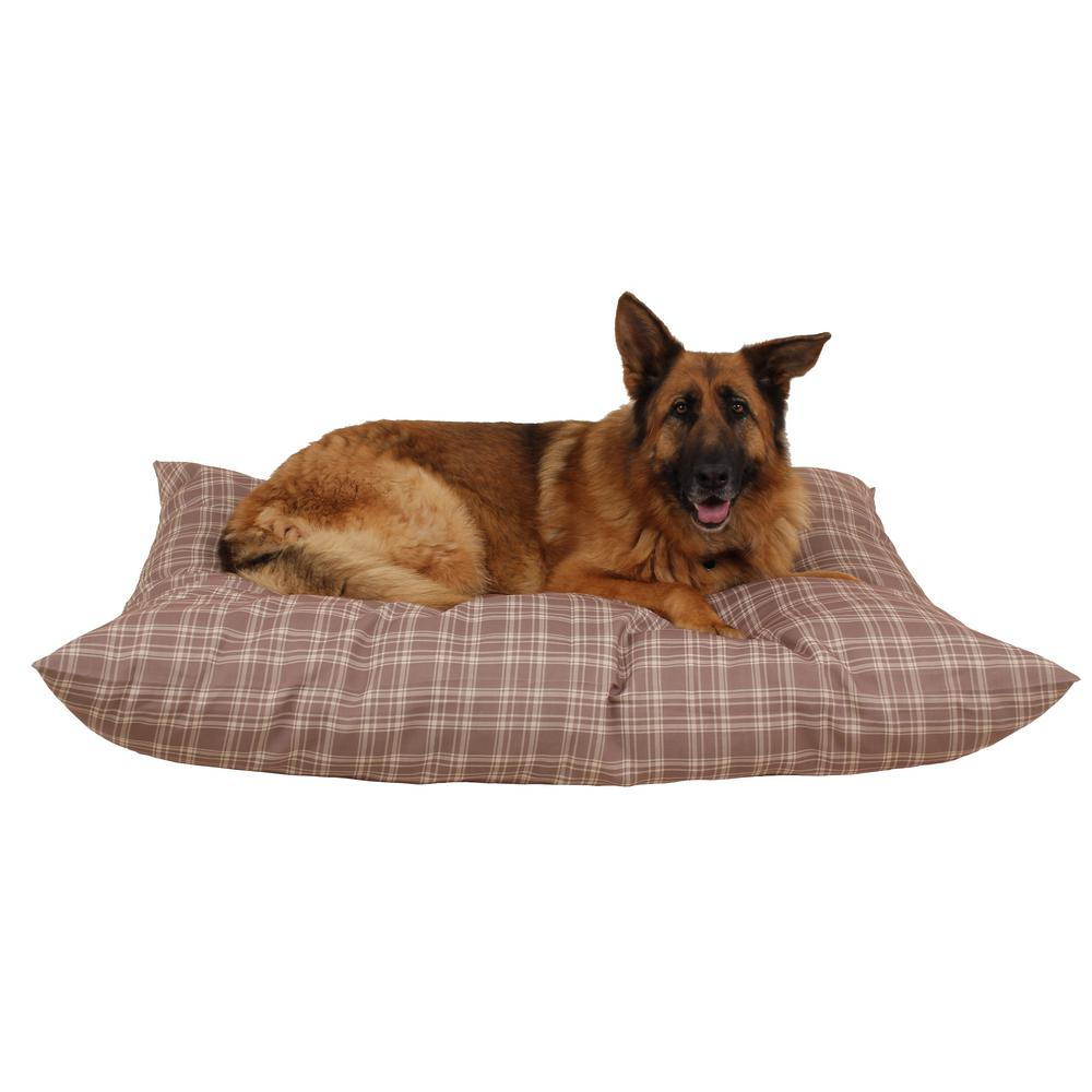Large Tan Plaid Indoor Outdoor Shebang Bed 1373 The Home Depot
