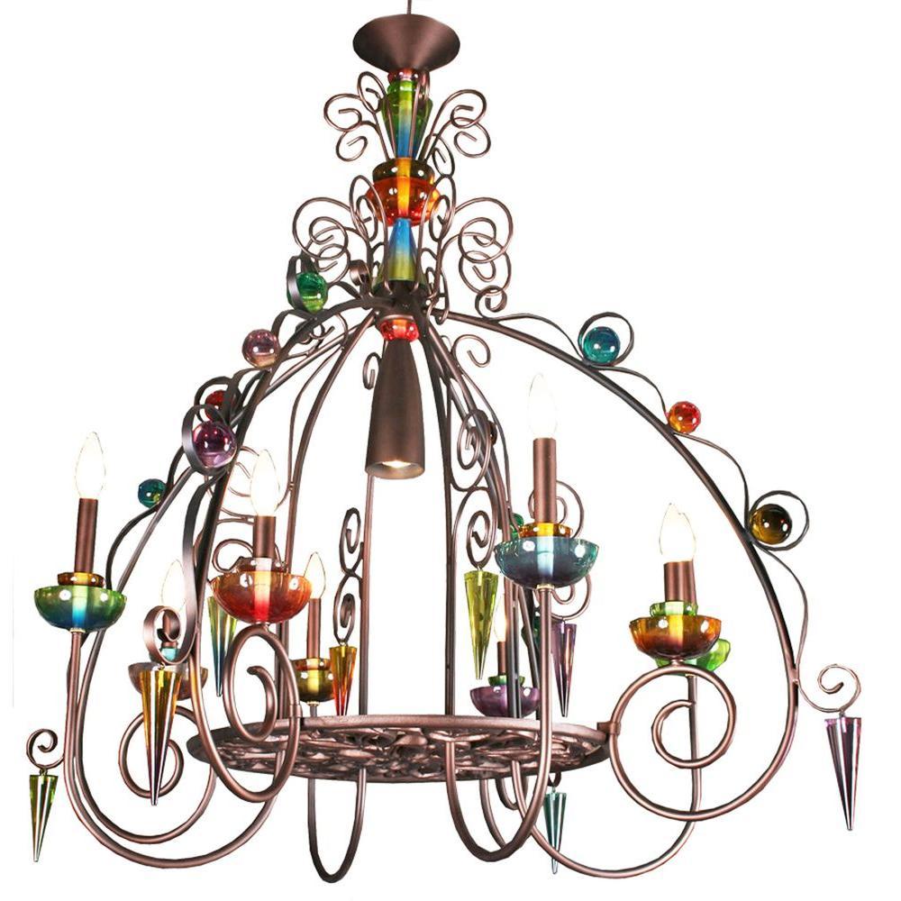 Filament Design Century 8-Light Copper Chandelier