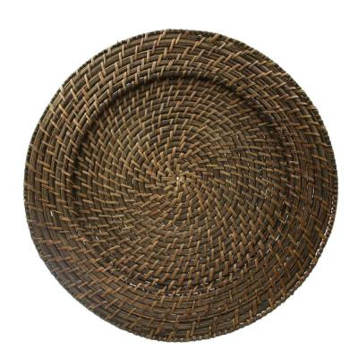 13 in. D Round Rattan Charger (Set of 4)