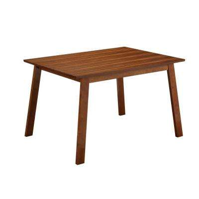 Zebra Hagen Rich Walnut Dining Table