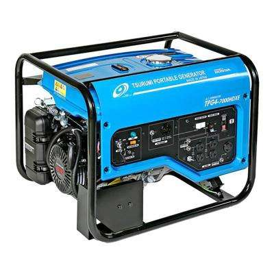 6,000 Watt Gasoline Powered Portable Blue Generator with Electric Start, GFCI Protection and Honda GX390 OHV Engine