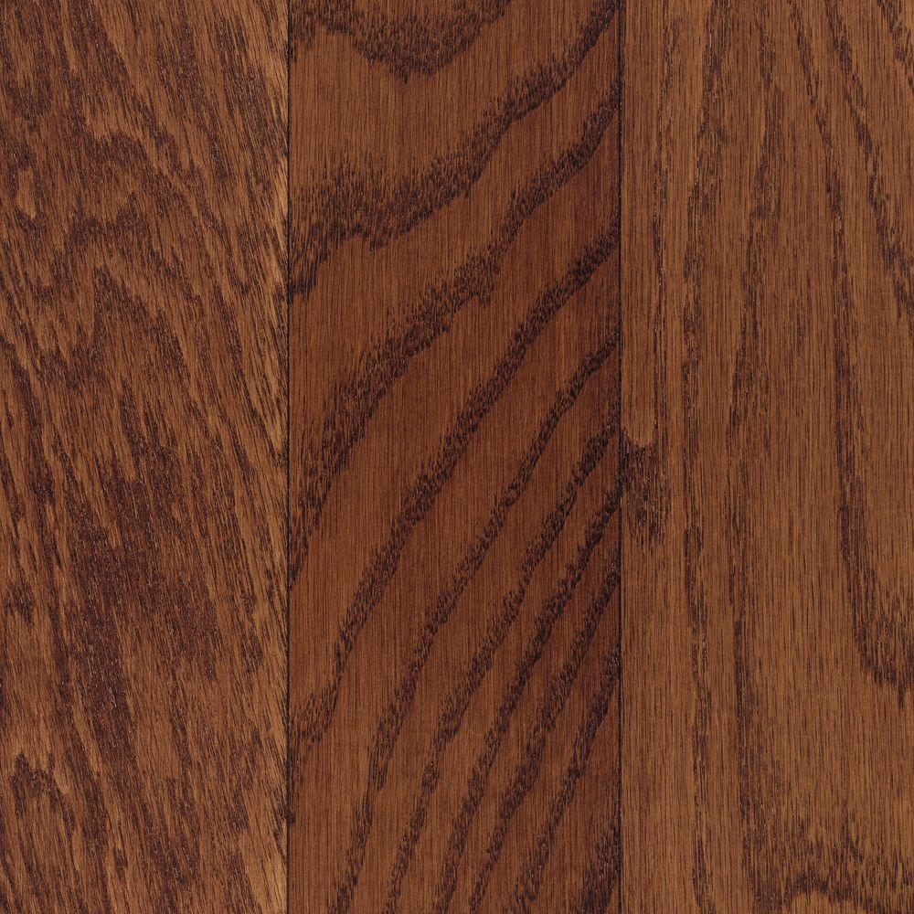 Mohawk Take Home Sample Oak Cherry Engineered Click Hardwood Flooring 5 In. X 7 In.