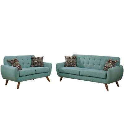 Brescia 2-Piece Laguna Sofa Set