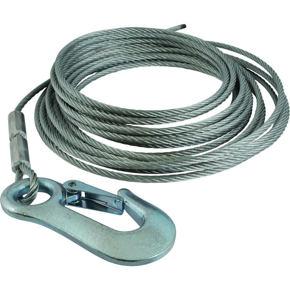 null 3/16 in. Winch Cable Replacement with Hook