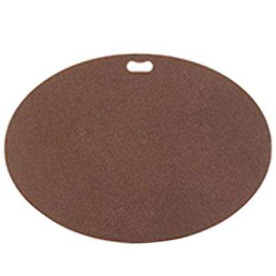 42 in. x 30 in. Oval Earthtone Brown Deck Protector