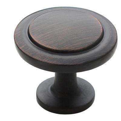 1-1/4 in. Oil Rubbed Bronze Round Cabinet Knob (25-Pack)