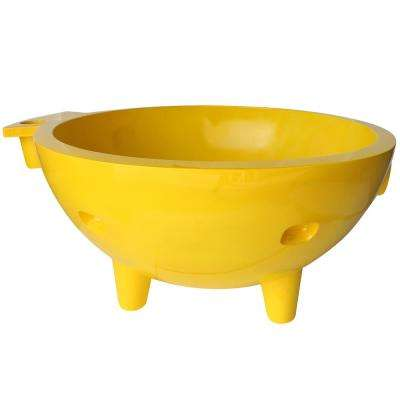 FireHotTub-YE 63 in. Acrylic Flatbottom Bathtub in Yellow