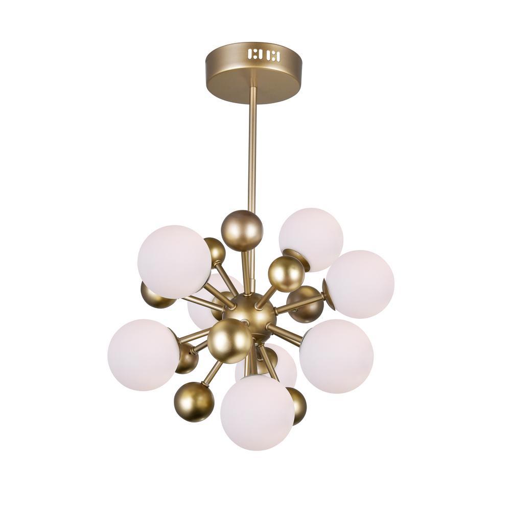 Element 8-Light Sun Gold Contemporary Chandelier