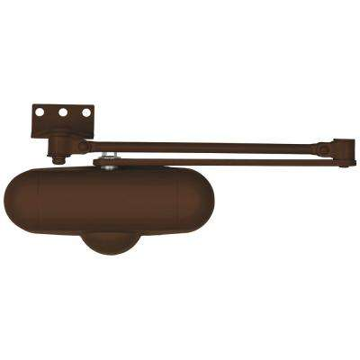 Light-Duty Aluminum Brown Residential Hold-Open Door Closer