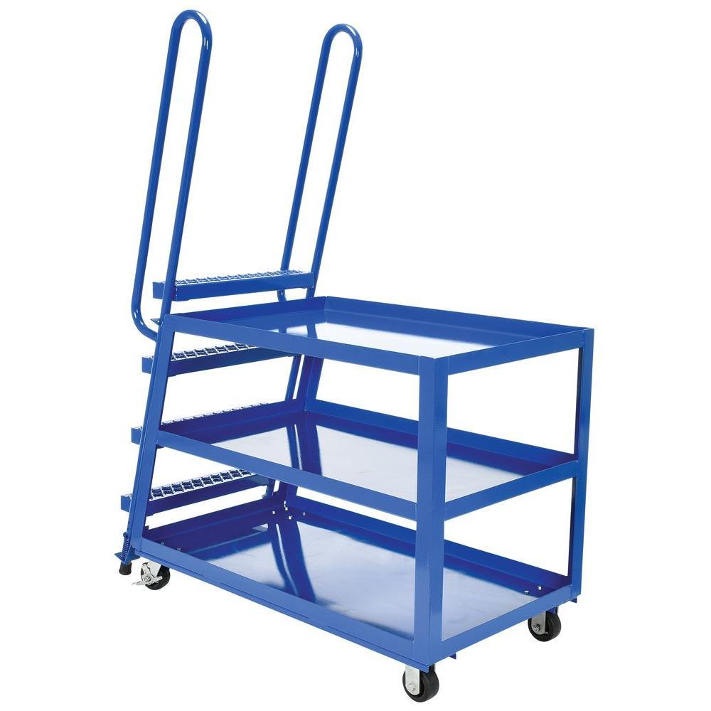 1,000 lb. 28 in. x 52 in. 3-Shelf Hi-Duty Stock Picker