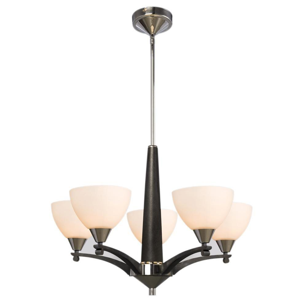 Negron 5-Light Chrome and Black Incandescent Chandelier