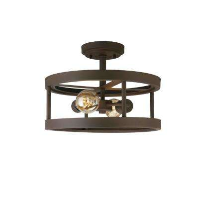 2-Light Oil Rubbed Bronze Semi-Flush Mount