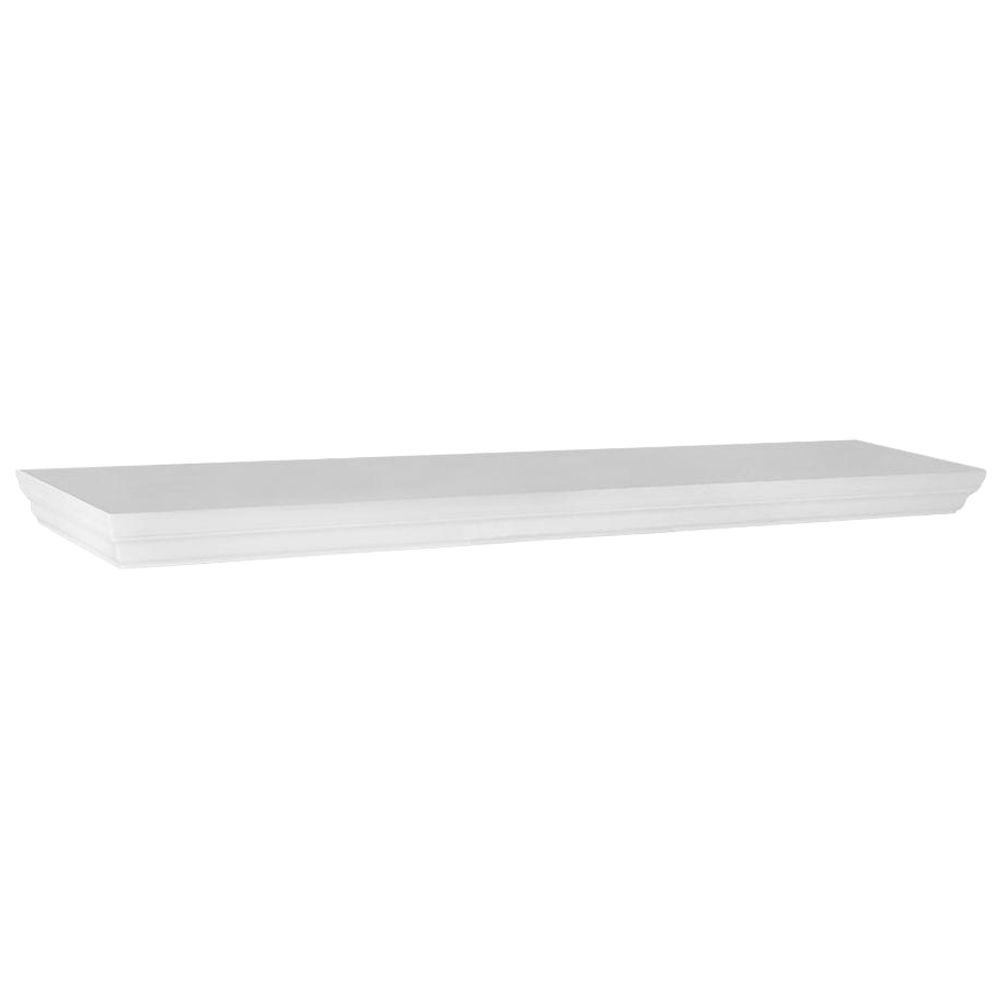 Home Decorators Collection 35.4 in. W x 7.5 in. D x 1.77 in. H White Profile MDF Floating Shelf