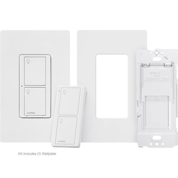 Caseta Smart Switch 3-Way Kit (2 Points of Control) with Pico Remote, Wallplate and Bracket, White